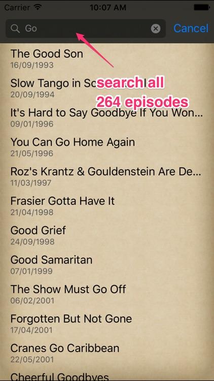Ultimate FRASIER Episode Guide screenshot-4