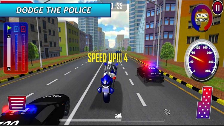 Extreme Motorbike Ride: Police Pursuit Race screenshot-3