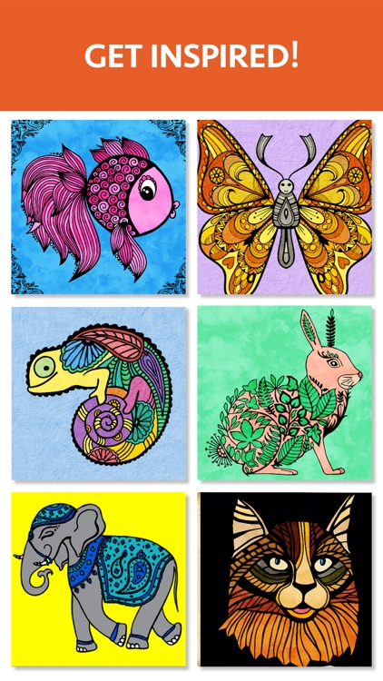 Animal Coloring Book for Adults - Color Therapy screenshot-3