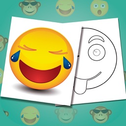 Emojis coloring book - Paint funny emoticons