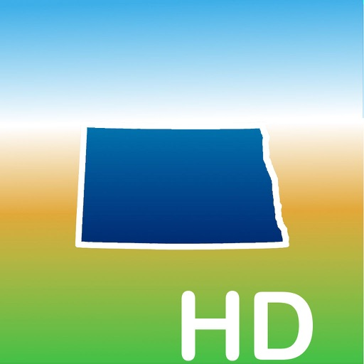 Aqua Map North Dakota ND Lakes HD- Nautical Charts