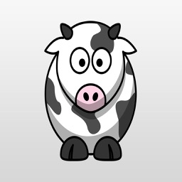 Funny Cow Stickers : Jump Over the Moon!!