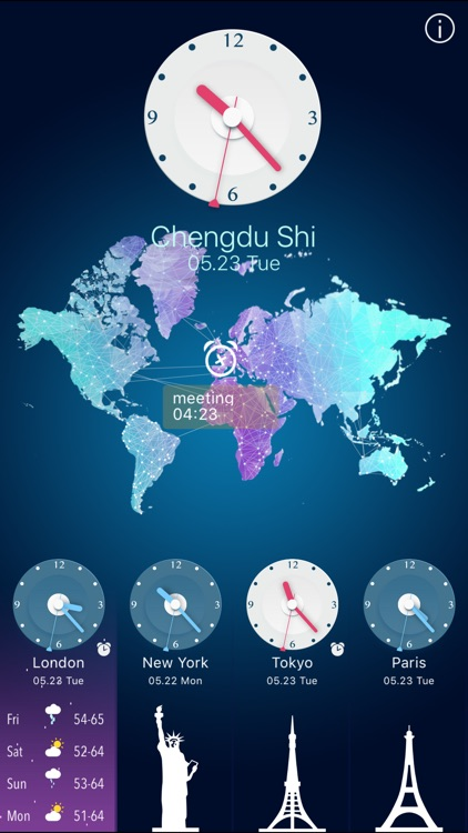 World Clock HD for Time Zones screenshot-4