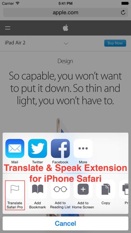Translate Pro for Safari