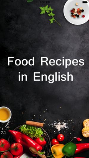 Food recipes in english en app store capturas de pantalla del iphone forumfinder Choice Image