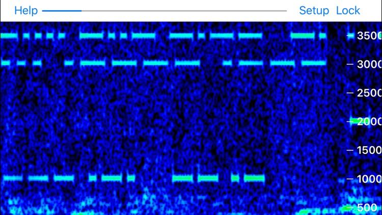 Godafoss Audio Spectrum Waterfall QRSS CW FSKCW