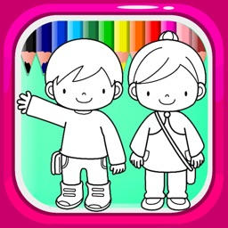Coloring Book Games For Drawing Student