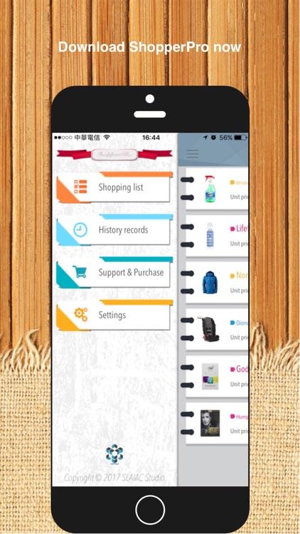 ShopperPro - Shopping list. screenshot-4
