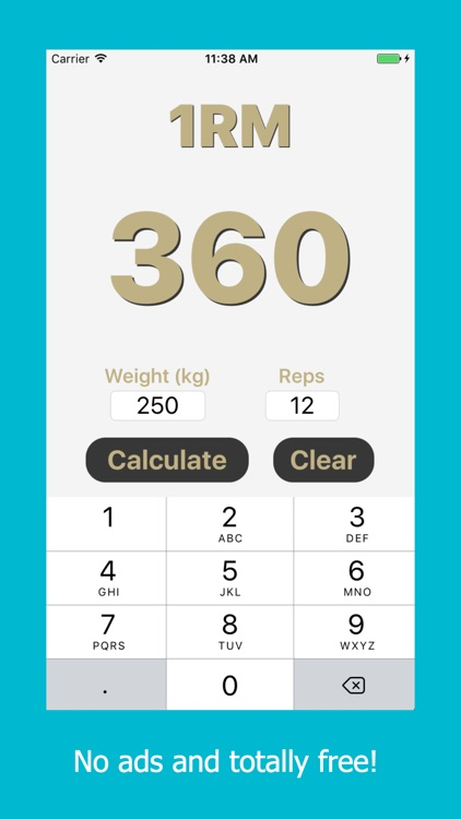 1RM - Simple & Easy One Rep Max Calculator