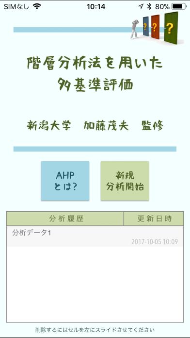 階層分析法アプリのスクリーンショット1