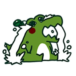 Small Crocodile Emoji Sticker