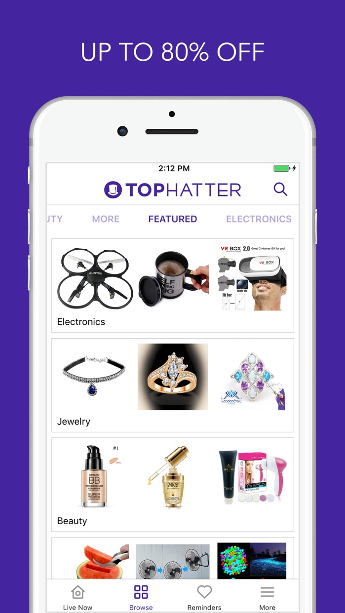 Tophatter Shopping Screenshot