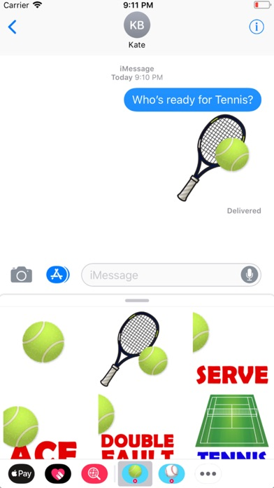 Animated Tennis Stickers screenshot 1