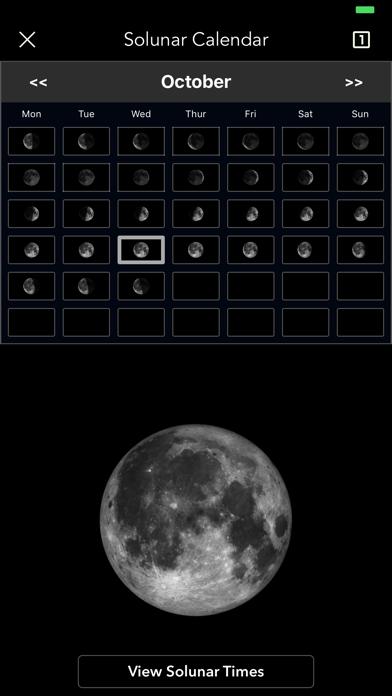 Moon Phase Calendar Pro screenshot 1
