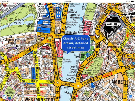 Az Street Map Of London.Greater London A Z Street Map App Price Drops