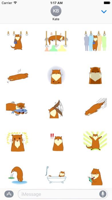 Cute Otter - Ottermoji Sticker screenshot 2
