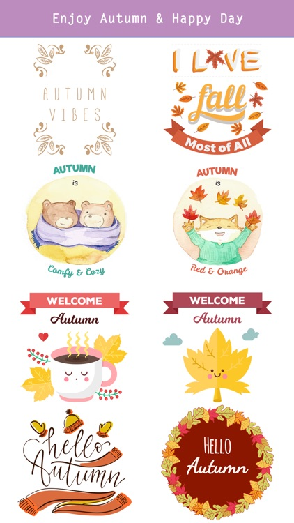 Autumn Love - Most Beautiful Autumn Stickers screenshot-4