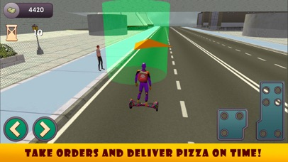 Superhero Hoverboard Pizza Delivery screenshot two