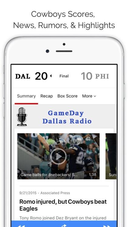 Dallas GameDay Radio for Cowboys Mavericks Rangers screenshot-3