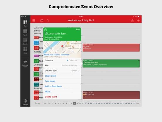 Screenshot #2 for WeekCal iPad