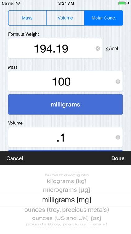 Molarity Calculator screenshot-4