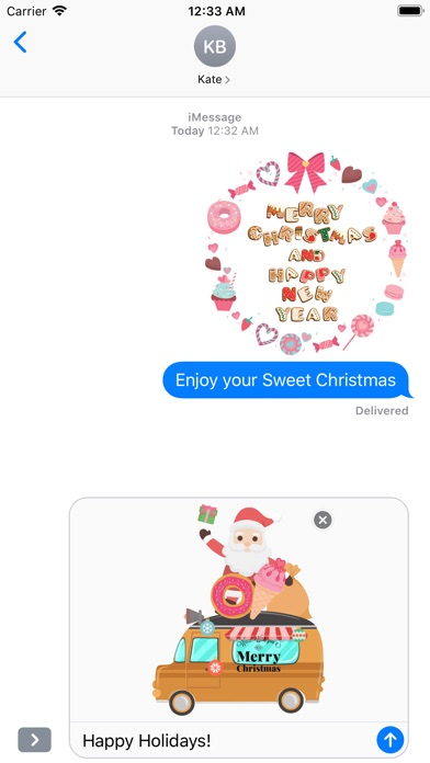 Sweet Happy Christmas Stickers screenshot 5