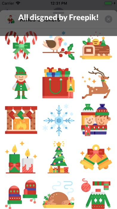 Screenshot for 230 Xmas Stickers in United States App Store