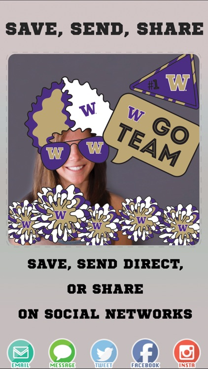 Washington Huskies PLUS Selfie Stickers screenshot-3