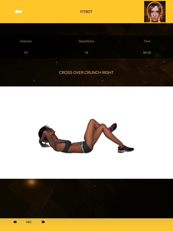 Flat stomach workouts - FitBot screenshot 9
