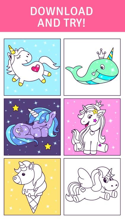 Animated Unicorn Coloring Book screenshot-3