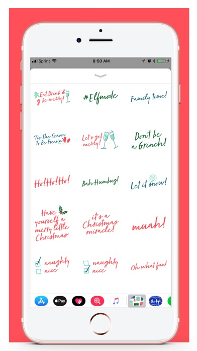 Her Holiday Stickers screenshot four