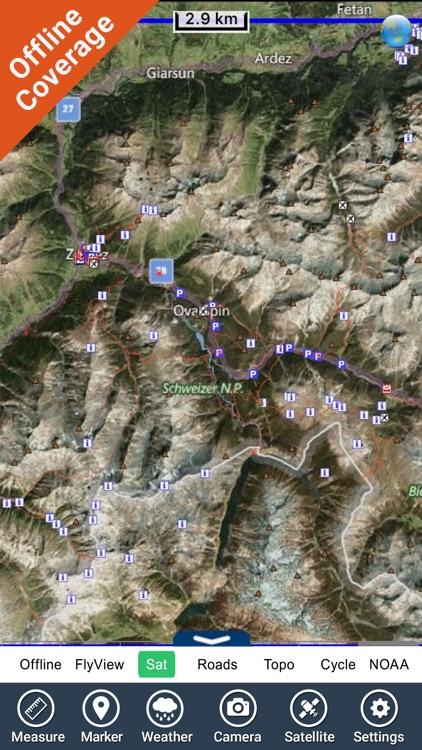 Schweizer National park - GPS Map Navigator screenshot-4