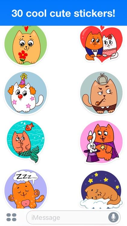 Funny cats - Cute stickers screenshot-3