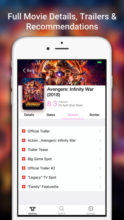 Moovies: Simple Movie List App screenshot-1