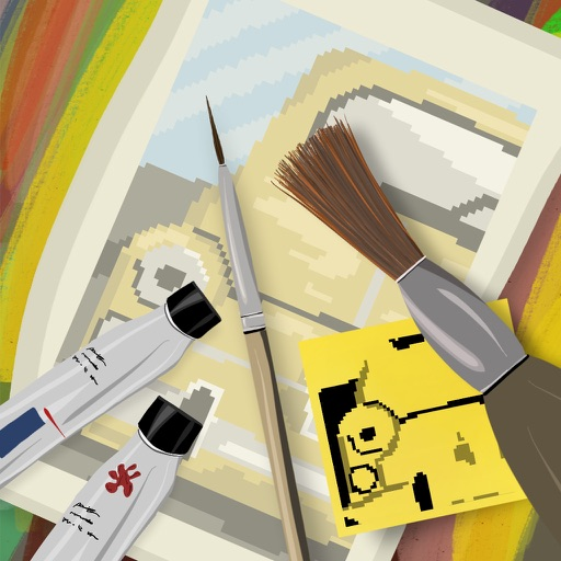 Pixel painter story icon