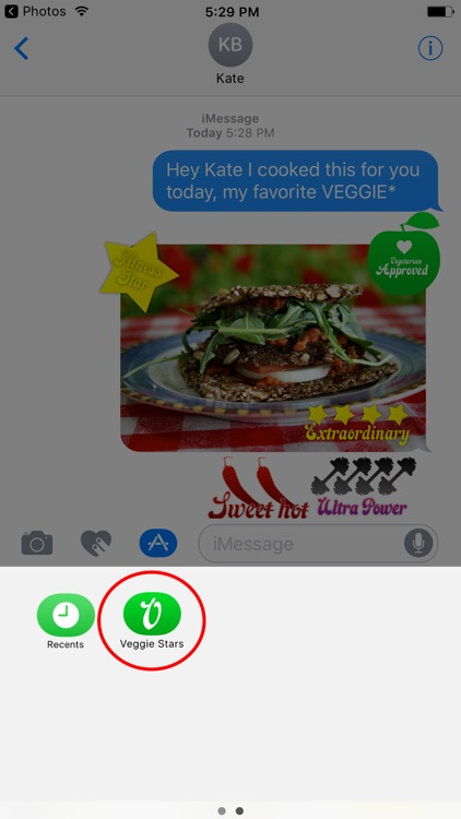 Veggie Stars - Rate your food