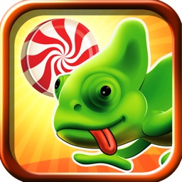 Sweet Sugar Crush Cameleon Escape - An Awesome Drag and Cut Puzzle Physics Game