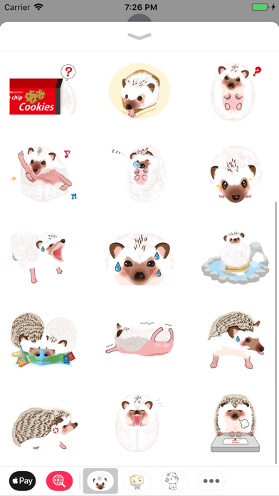 Hedgehog Funny Stickers Pack screenshot three