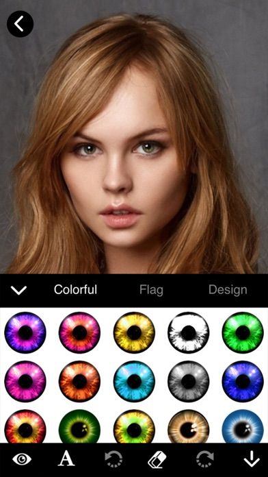 Eye Lens Color Changer screenshot one