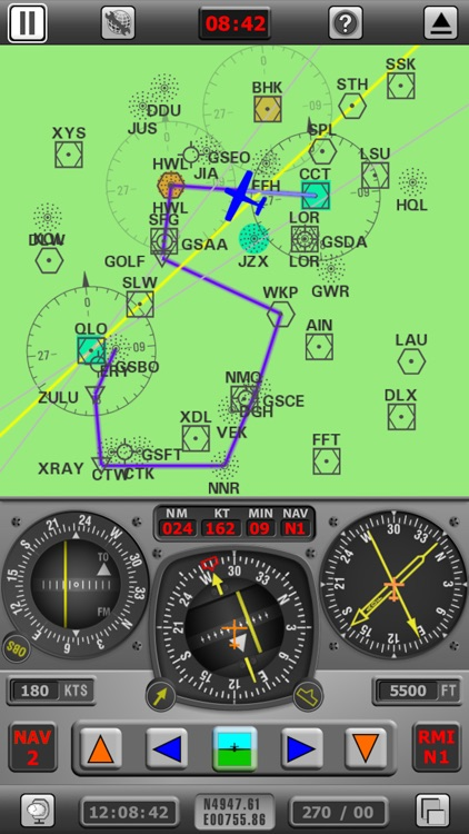 Radio Navigation Simulator IFR screenshot-0