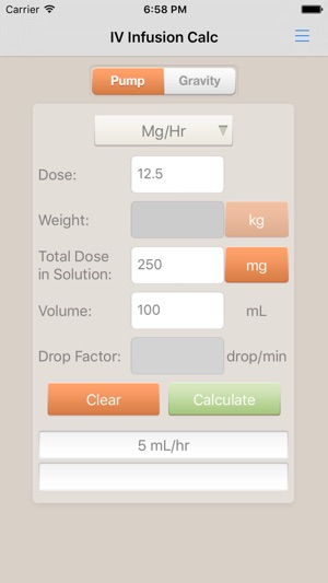 Iv infusion calculator on the app store.