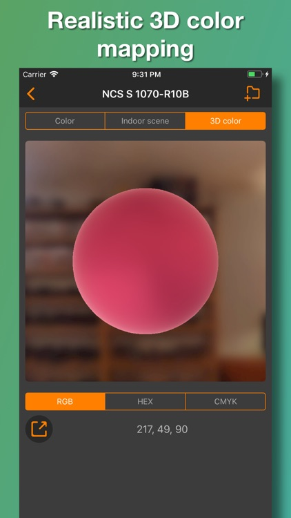 NCS color palette. 3D chart screenshot-3