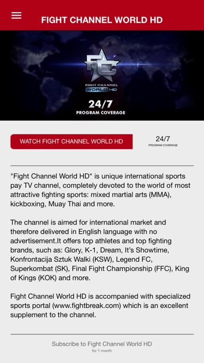 Fight Channel World HD