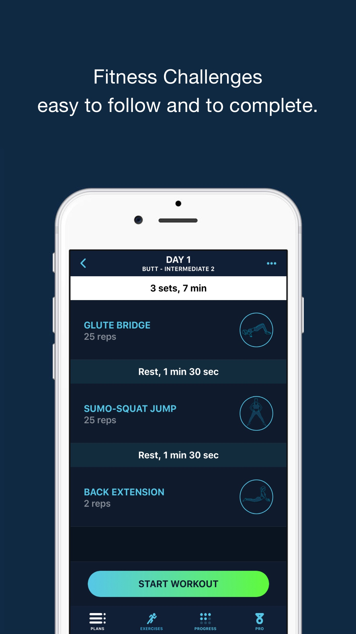 30 Day Firm Butt Challenge ~ Booty workout Screenshot