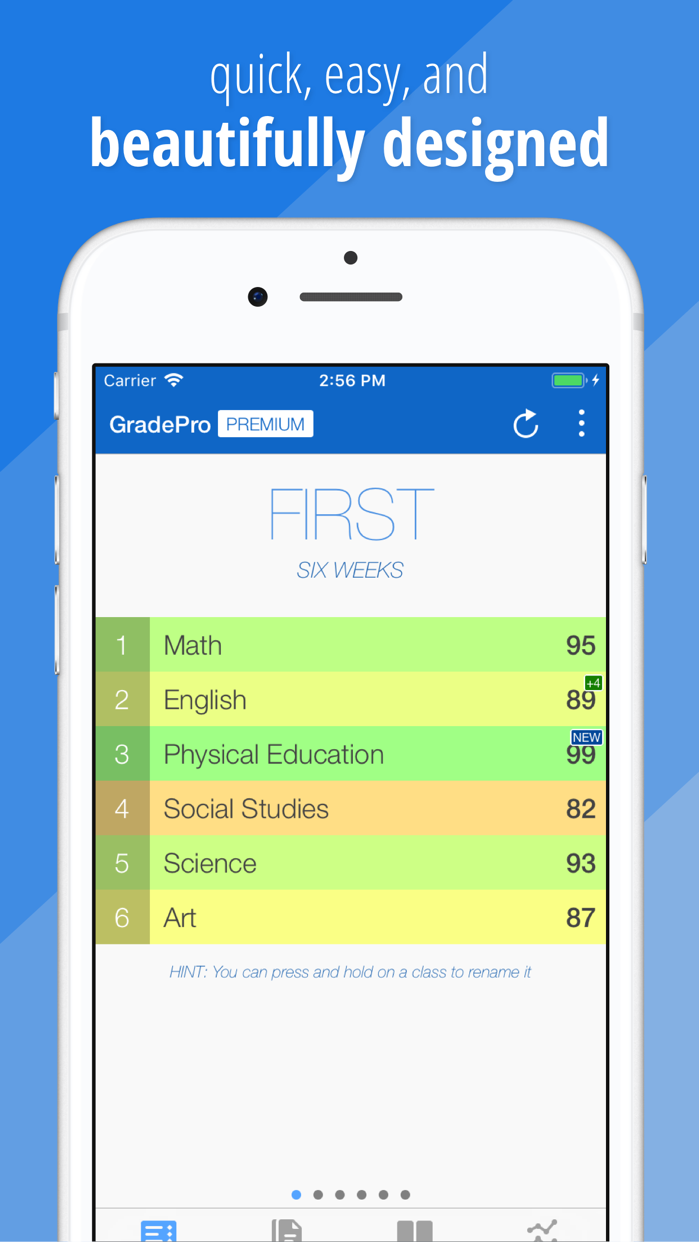 GradePro for grades Screenshot