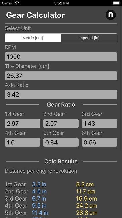 Gear Calculator Plus
