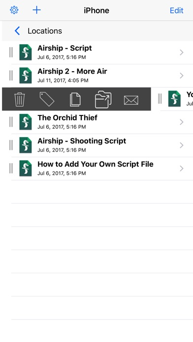 Final Draft Mobile Screenshots
