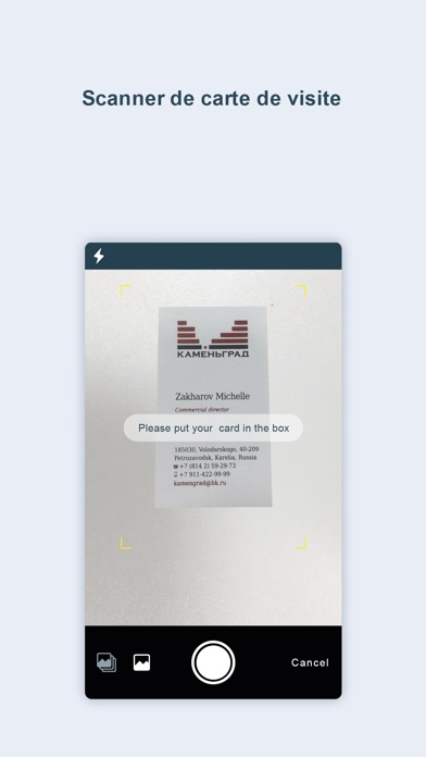 Screenshot 1 Pour Carte De Visite OCR Scanner Pr