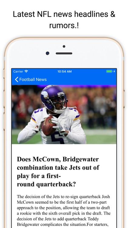 Touchdown News for NFL & CFB screenshot-4