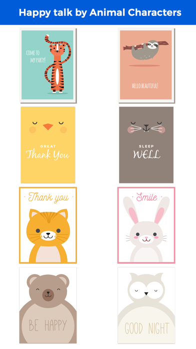 Happy Talk by Cute & Lovely Animal Characters screenshot 1